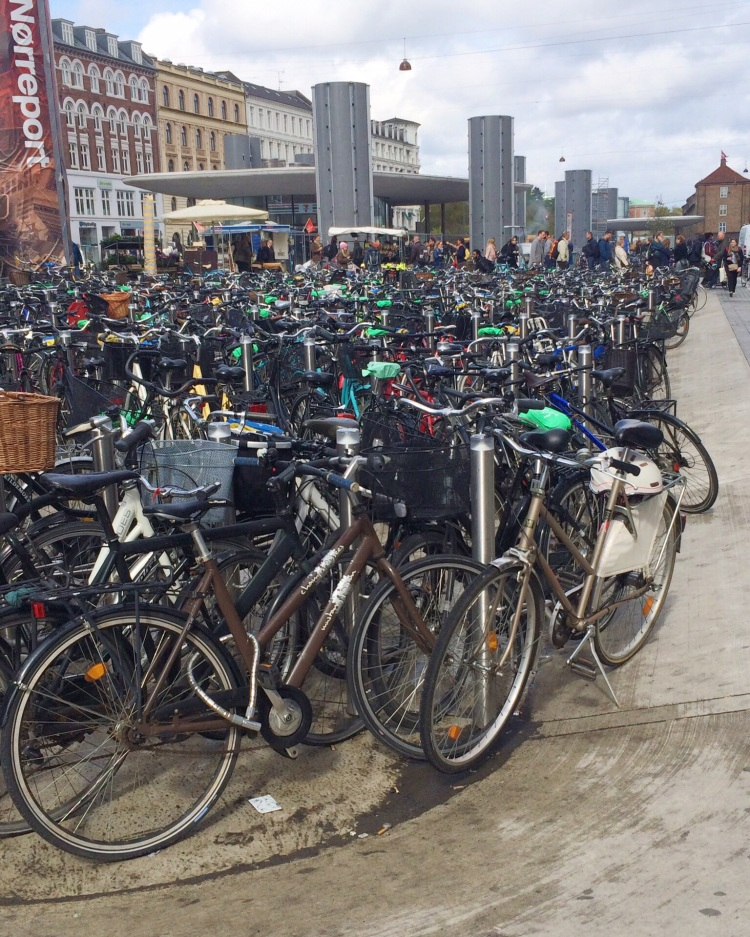 One of many full bike parking areas around Nørreport Station