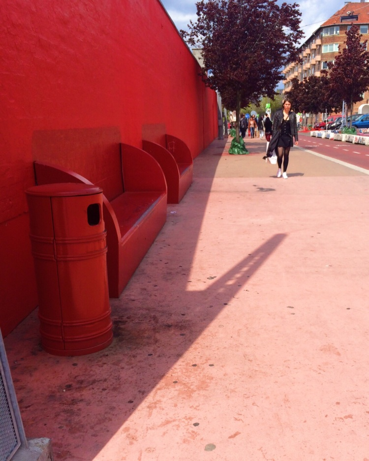 The red walkway towards the Black Market